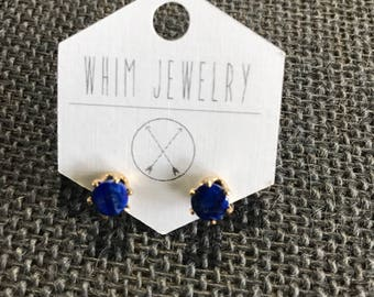 Lapis Gold Fill Stud