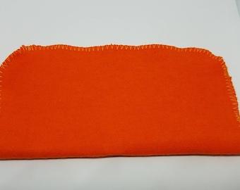 SALE 24 Orange Flannel cloth wipes