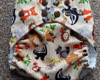 Forest friends petite OS pocket nappy
