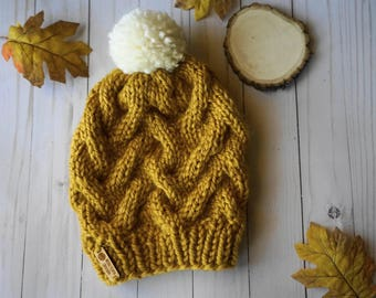 Cable Knit Slouch Beanie