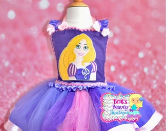 Inspired by Rapunzel Ribbon Tutu Dress/Rapunzel Costume/Rapunzel Dress/Halloween Costume/Halloween Tutu Dress/Photography Prop/Pageant Wear/