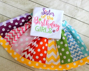 Big Sister outfit Big sister birthday outfit Rainbow big sister shirt Birthday skirt set for girl Size 2t 3t 4t 5 6 8 10 12 month available