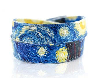 Van Gogh Bracelet - Starry Night Bracelet - Van Gogh Jewelry - Mens Bracelet - Womens Bracelet - Art Teacher Gift - Collar Choker Necklace