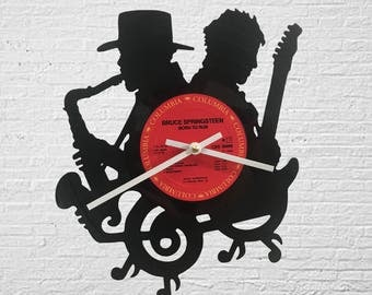 Bruce Springsteen and Clarence Clemons Record Clock