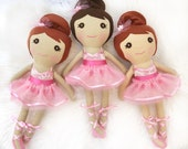 Personalized Dance Recital Doll, Ballerina Doll, Toddler Girl Gift, Dance Recital Gift for Girls, Ballerina Toy, Ballerina Birthday Gift,