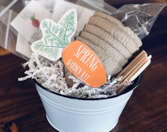 Beginner Spring Garden Kit, Gardening for Children, Container Garden, Small Garden, Nature Study, Valentine Gift for Him, Valentine Card for