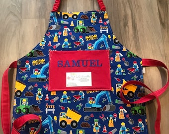 Construction apron for toddlers