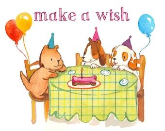 Make a Wish Birthday Card (Single Card)