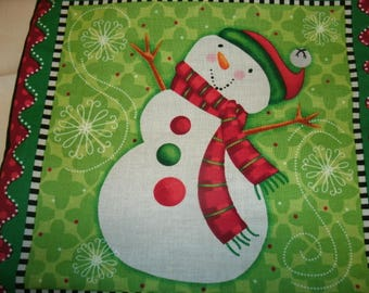 Holiday Pillow, Decorative Sofa Toss Pillow, Snowman Pillow, Holiday Accent Pillow, Christmas Pillow, Home Decor, Holiday Decoration,