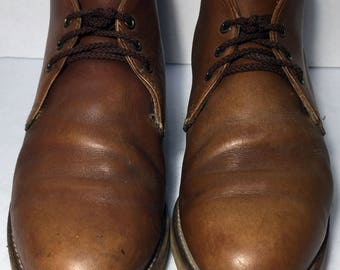 Red Wing® 595 Heritage Work Chukka Brown Leather Work boots Men's Size 9