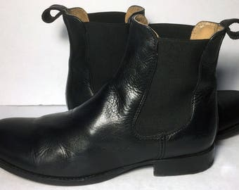 Frye 74287 Erin Chelsea Black Leather Ankle Boots Women's Size 8.5