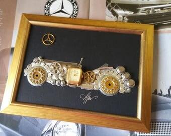Mercedes Benz SSK-L 1929 Code M 043, Mercedes decor, Vintage, Steampunk art, Gifts for men, Luxury gifts, T-shirt Car Design, Office art