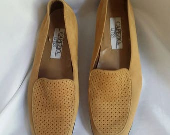Suede loafers tan suede loafers Capezio loafers size 8 1/2