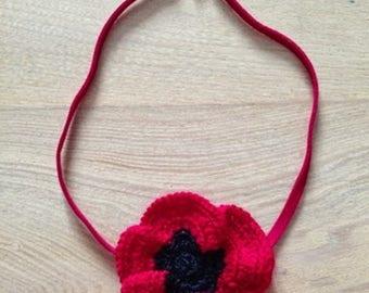 Poppy red crochet cotton