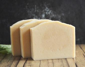 Unscented Yogurt + Aloe Vera Soap | Fragrance Free Intimate Soap, Homemade Sensitive Dry Skin Soap, Handcrafted Feminine Soap, Handmade Soap