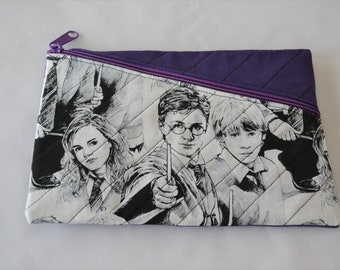 Harry Potter Quilted Zippered Clutch