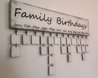 Family Birthday Board (hand painted)