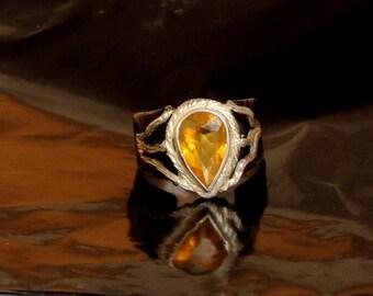 Shakti. Beautiful ring with Brazilian fire opal