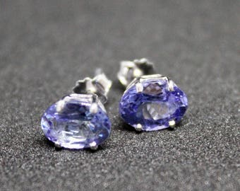18ct White Gold Earrings Natural Tanzanite 2.92ct - December Birthstone - Value: 4,650AU - Gift For Her - Birthday Present - Christmas Gift
