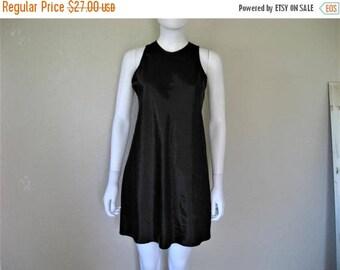 ON SALE Black Satin 90s Dress