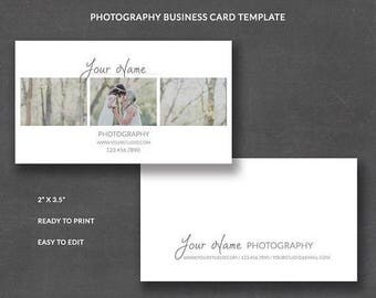 SALE Photography Business Card Template for Photographers, Business Card Editable Instant Download, Business Card Wedding, bc007
