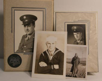 Authentic B/W 40s & 50s Photos Military Air Force Service Men in Uniform WWII