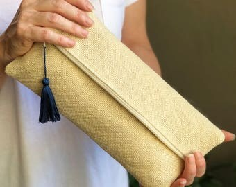 Hessian Clutch Bags by KvO makes