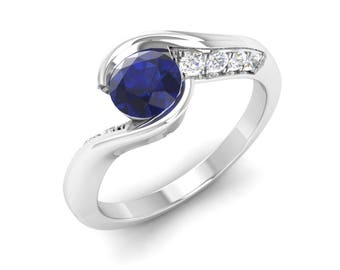 Blue Sapphire Ring, Unique Engagement Ring, Stunning Ring, Anniversary Ring Gift, Wedding Ring, Natural AAA Sapphire Ring, Gemstone Ring
