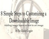 Graphic Design Tutorial 8 Simple Steps to Customizing Dowloads Add Graphics Text & Images DIY Wanted Poster with Practice PNG Images E Book
