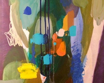 """Whats Inside - Original Abstract Acrylic Painting 20"""" x 16"""""""