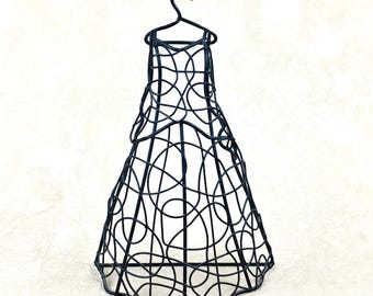 Hanging Wire Dress Form Jewelry Holder
