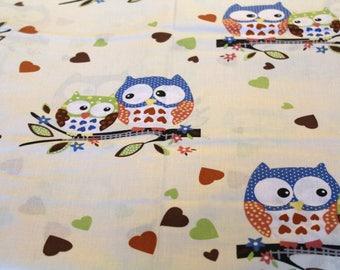 Fabric coupon 50 x 70 cm OWL