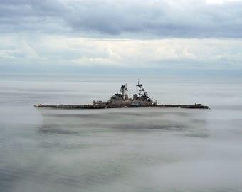 The amphibious assault ship USS Iwo Jima (LHD 7)