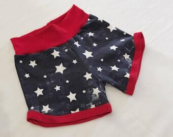 Fourth of July Shorts, Patriotic Shorts, 4th of July Shorts, Baby shorts, Toddler shorts, Stars patriotic shorts, shorties