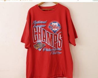 ON SALE XLARGE Vintage 1993 Phillies World Series Champs Red Graphic T-Shirt