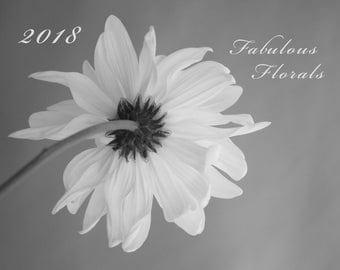 SALE 2018 Calendar, 2018 Floral Wall Calendar, Gift for Her, Flower Photos, Glossy Flower Calendar, Botanical Calendar 11x14 Monthly Planner