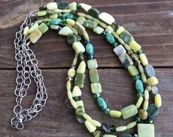 Jade Multi Strand Necklace