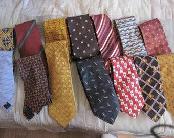 men's designer ties ...silk,....lot of 14