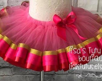 Pink and gold tutu, pink tutu, red tutu, pink smash cake tutu, valentines tutu, valentines day tutu, pink and red tutu, red and gold tutu