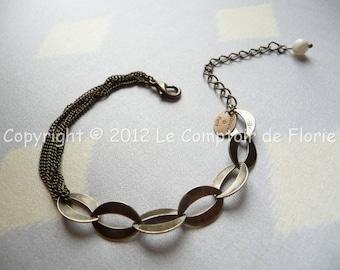 DESTASH Bracelet chains metal bronze