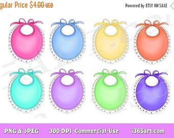 50% OFF Bibs Clipart, Frames, Borders, Bibs Clip art, Gift Name Tags, clipart tags, labels, Baby Clipart, Shower, Nursery, Invitations