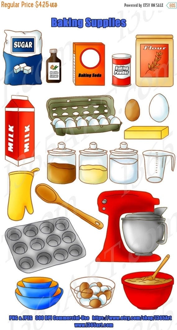 Baking Ingredients Clipart 50% OFF Baking ...