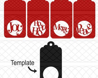 Christmas Gift Tag Quartet and Blank Tag SVG, PNG, and STUDIO3 Cut Files for Silhouette Cameo/Portrait and Cricut Explore DIY Craft Cutters
