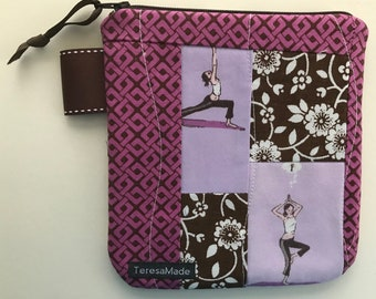 Small Yoga Zip Pouch