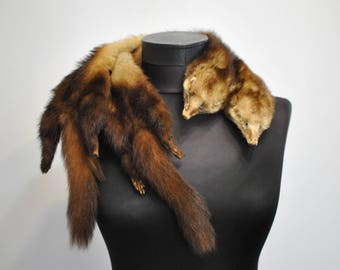 Vintage MINK FUR COLLAR , glamorous fur collar.........(070)