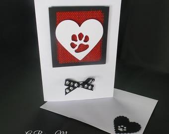 Dog Condolences Card - Sympathy Card - Dog Sympathy Card - Dog Bereavement Card - Handmade Sympathy Card - Loss of Pet Card - Loss of a Dog