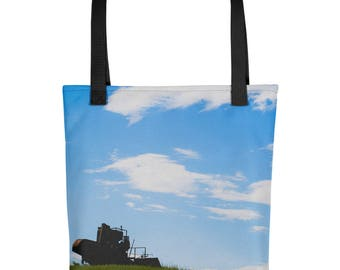 Tote bag - Red Silo Original Art - Field Sentinel