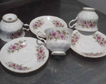 3 Large Royal Grafton Bone China Roses Cups and Saucers