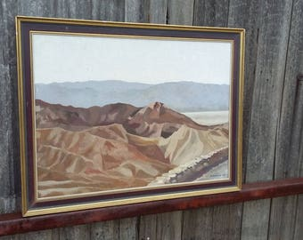 Large Original Oil Painting 1989 Zabriski Point Death Valley.