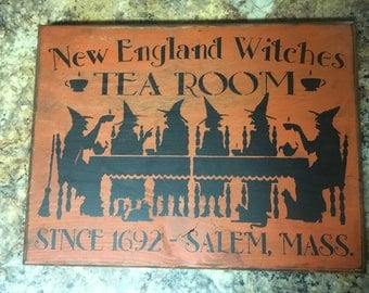 Halloween Witches Tea Room Sign